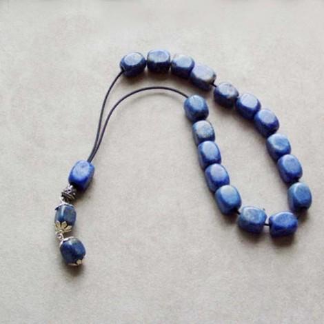 Blue eye house charm, hand blown glass eye in night blue, traditional, Greek folk art