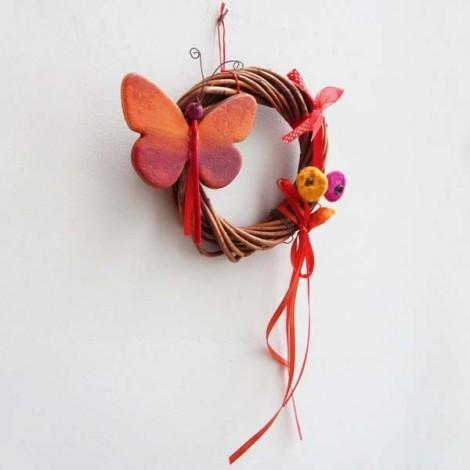 Ceramic rose bouquet , multi-coloured, brass wire stems.