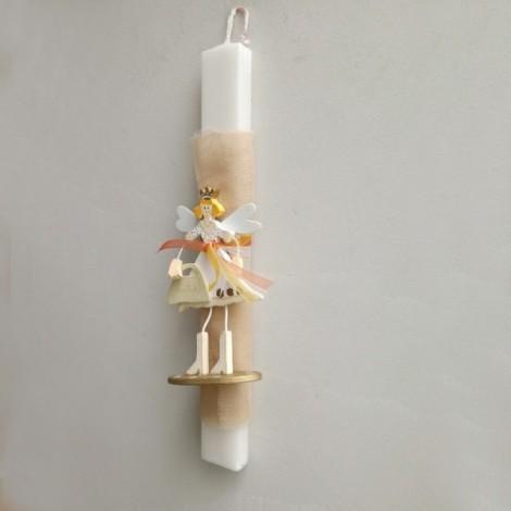 Wooden sculpture light,  girl with umbrella floor lamp