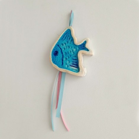 Blue fish wall hanging,...