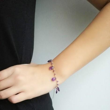 Amethyst rosary bracelet,...