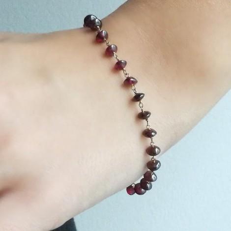 Garnet rosary bracelet,...