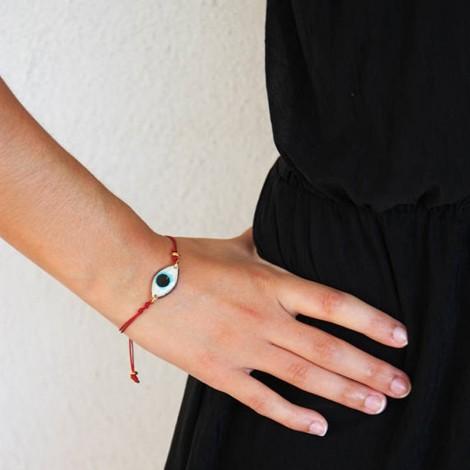 Blue eye bracelet, oval...