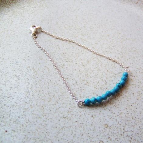 Silver chain bracelet,...