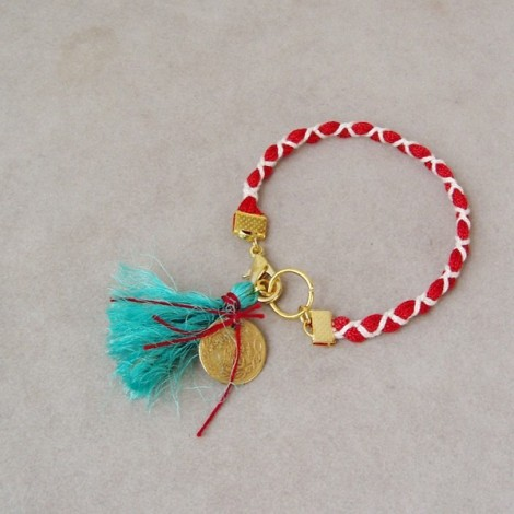 Red and white March bracelet