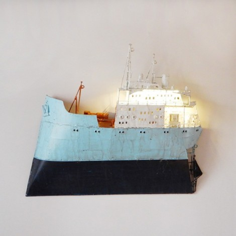 Ship wall sculpture