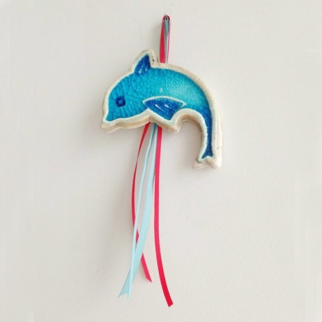 Blue dolphin wall hanging,...